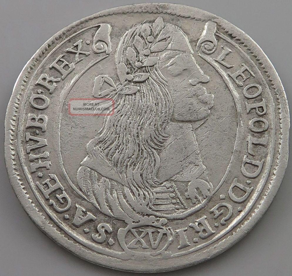 Austria 15 Kreuzer 1674 Kb Leopold I.  Jo 095 Europe photo