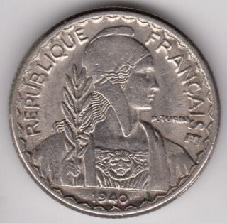 French Indochina - 1940 10 Cents Km 21.  1 Vietnam Laos Cambodia Se Asia Coin photo