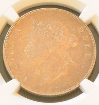 1893 China Hong Kong 50 Cent Queen Victoria Silver Coin Ngc Xf Details photo