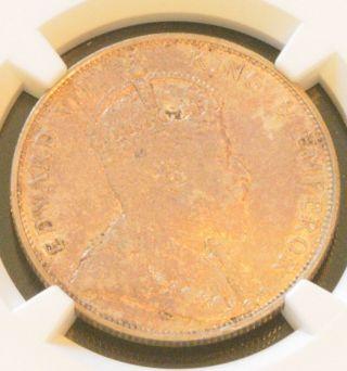 1905 China Hong Kong King Edward Vii Silver 50 - Cents Silver Coin Ngc Au 53 photo