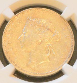 1893 China Hong Kong 50 Cent Queen Victoria Silver Coin Ngc Vf 35 photo