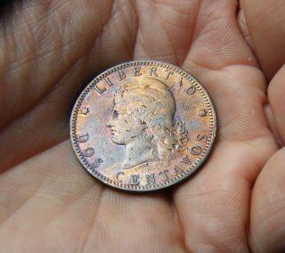 Argentina Coin 2 Centavos 1889 photo