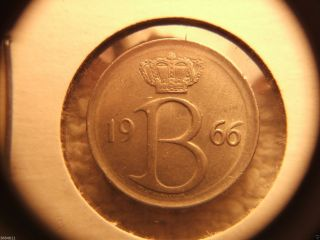1966 Belgium 25 Centimes photo