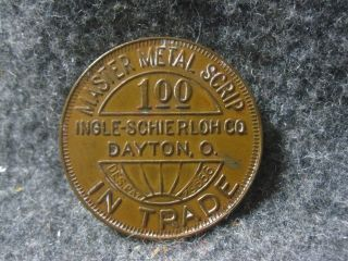 Antique Panther Coal Company $1 Scrip Coin Inger - Shierloh Co.  Dayton Ohio.  Vgc photo