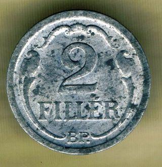 Hungary - 2 Filler 1943 Km 519 photo