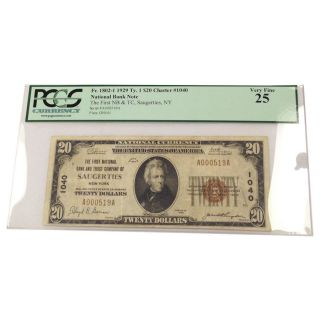 1929 $20 National Banknote