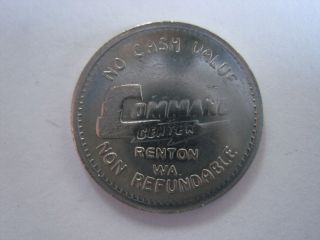 Command Center Arcade Renton Washington Token Coin 1107 - 5 photo