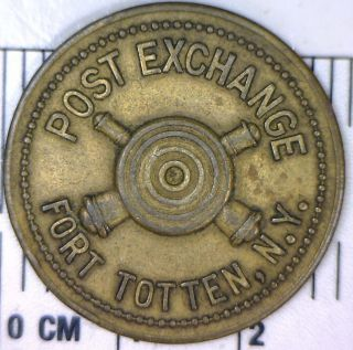 Fort Totten,  N.  Y.  Post Exchange Good For 25c Token: Brass: photo