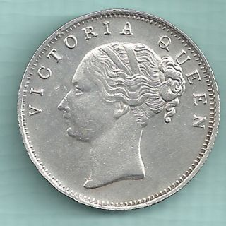 British India - 1840 - Victoria Queen - One Rupee - Continuos Legend - Rarest photo