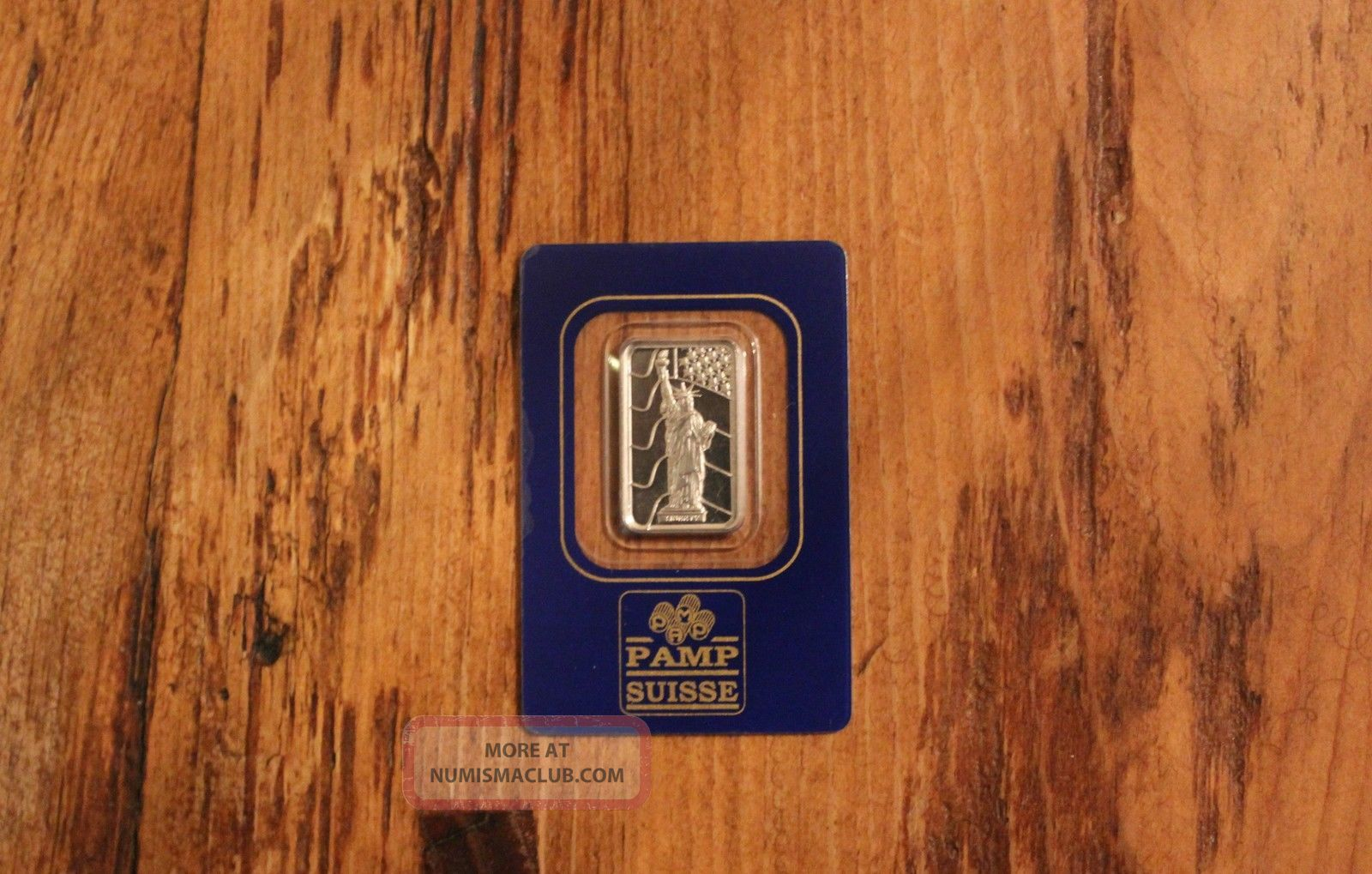 5 Gram Statue Of Liberty With Flag Pamp Palladium Bar.  9995 Pure Bullion photo