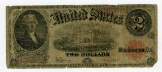 1917 Fr.  60 $2 United States Legal Tender Note photo