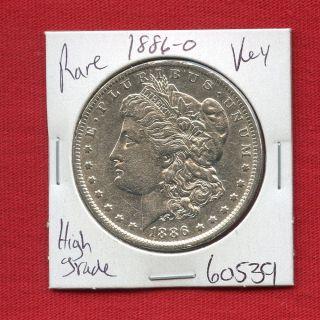 1886 O Morgan Silver Dollar 60539 Coin Us Rare Key Date Estate photo