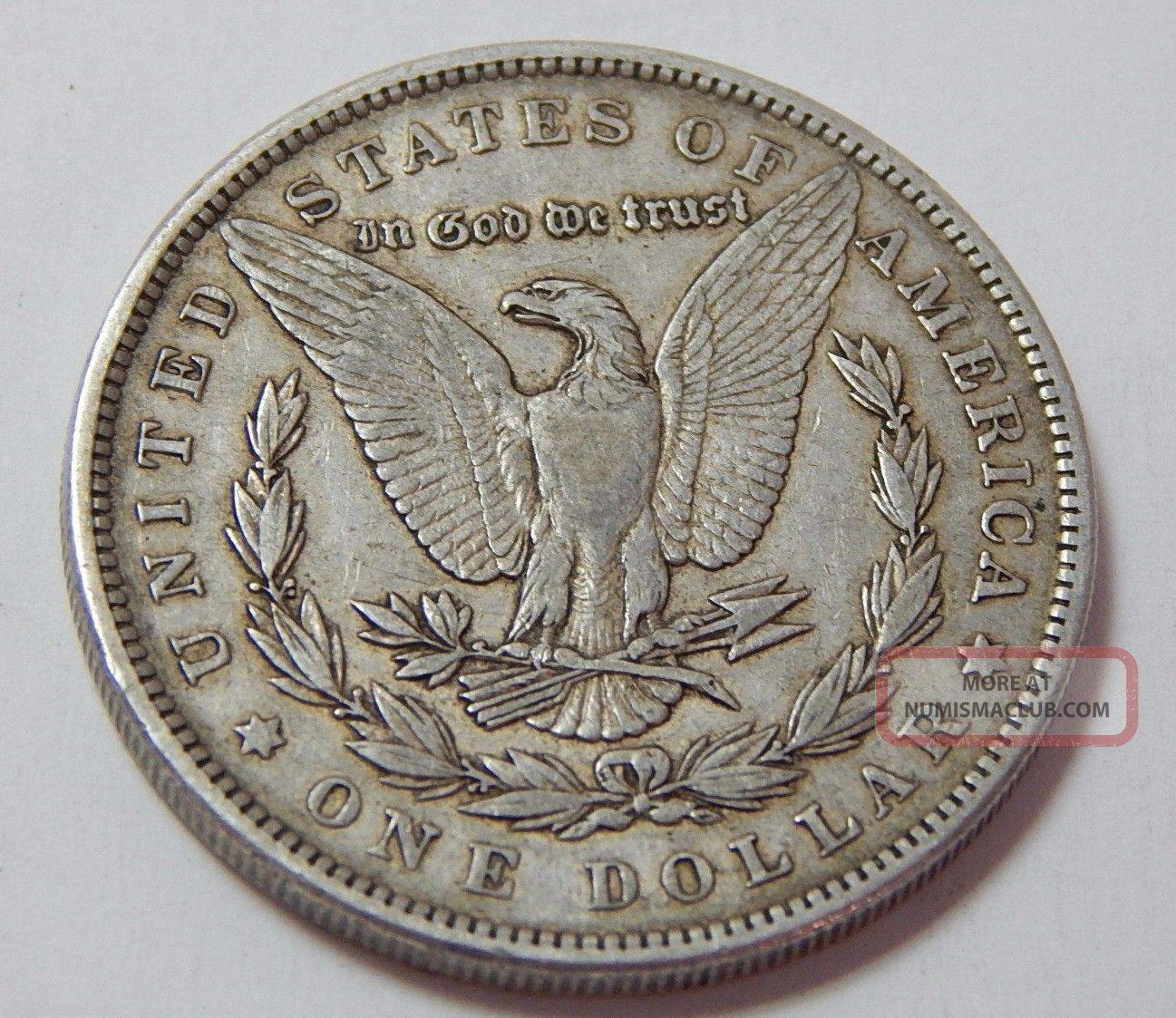 Antique 1889 Morgan Silver Dollar Coin 90