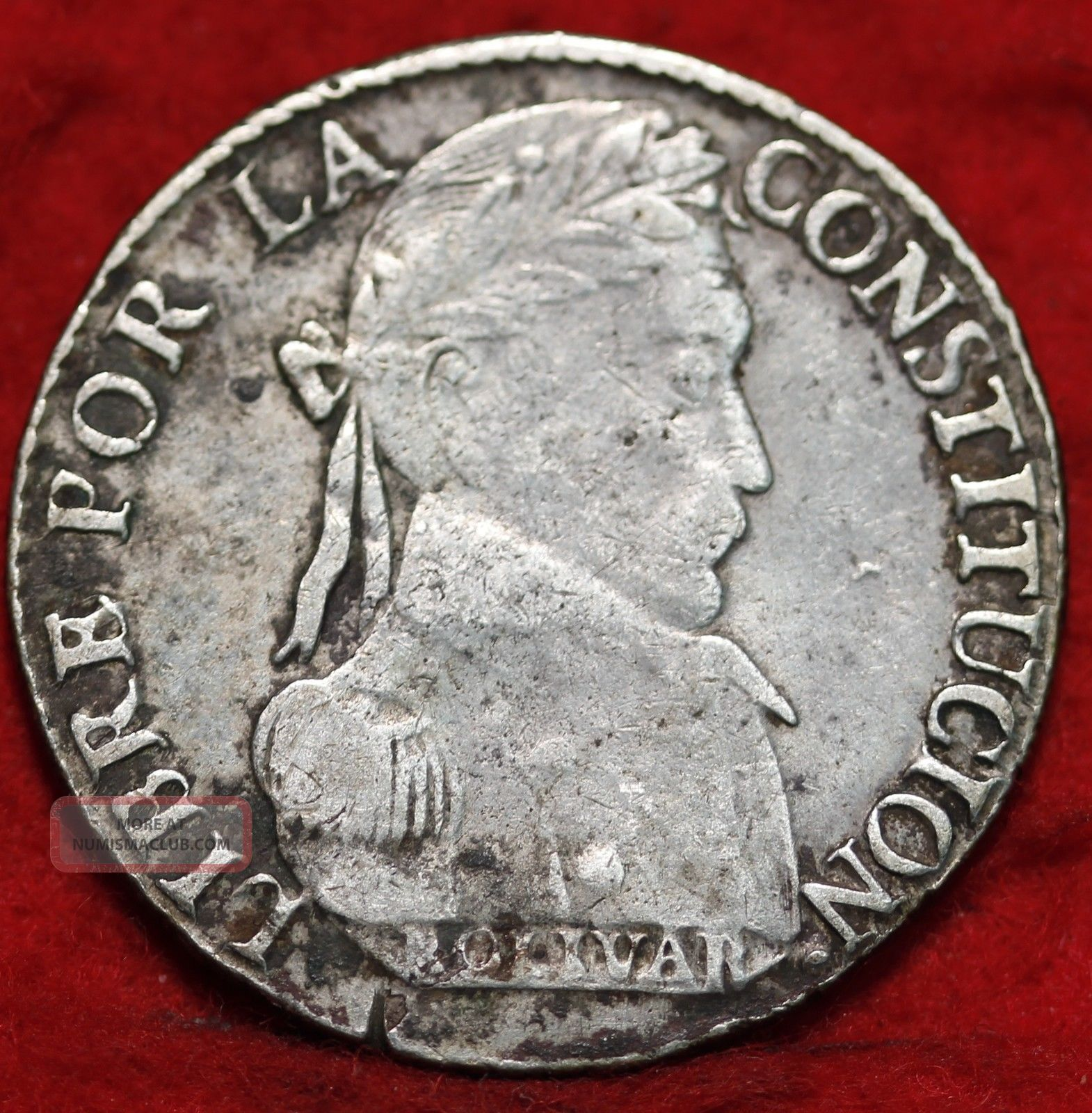 1830jl Bolivia Silver 4 Sols Foreign Coin S H
