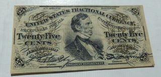 1863 Third Issue 25 Cent Fractional Currency Civil War Era 25¢ photo