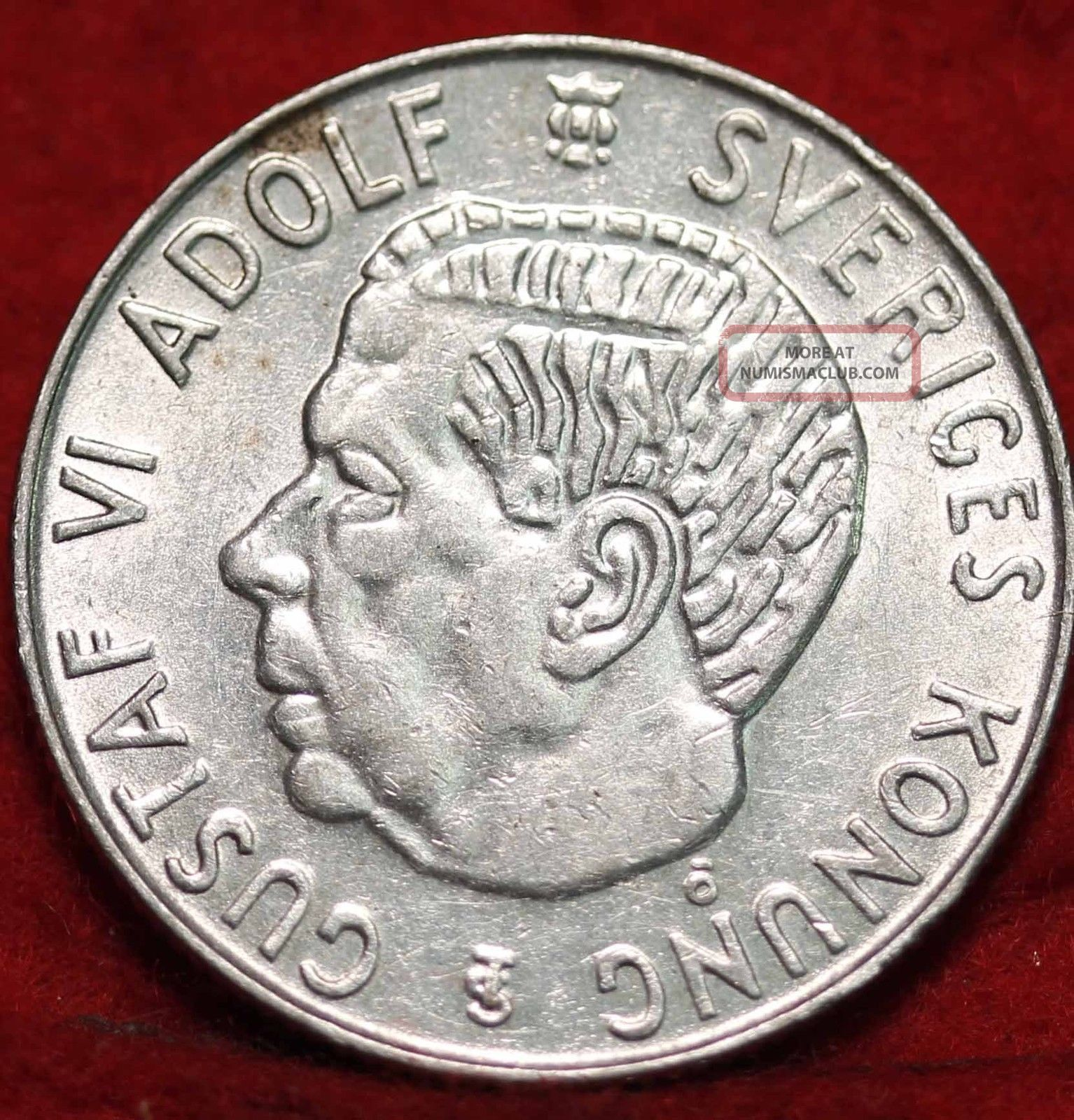 1957 Sweden Silver 1 Krona Foreign Coin S/h