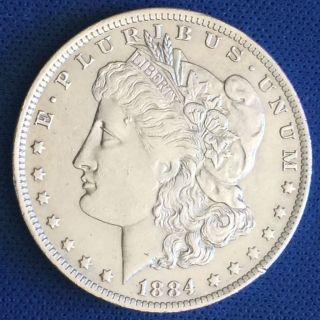 1884 - O Morgan Silver Dollar $1 Coin J109 photo