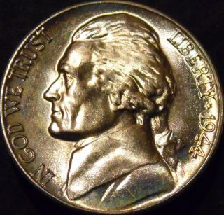 1944 - D Jefferson Nickel Gem Bu Uncirculated photo