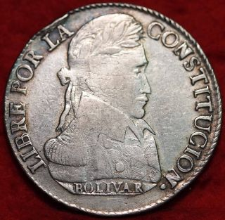 1839 Bolivia Silver 8 Soles Foreign Coin S/h photo