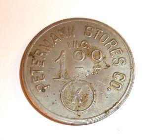 Trade Token Ingle Series 1914 Kearsarge Mi Michigan Gf 1.  00 It Petermann Stores photo