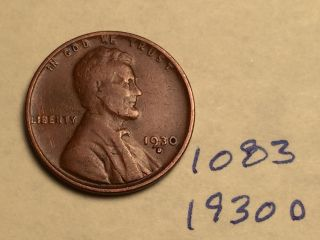 1930 - D 1c Bn Lincoln Cent (1083) photo