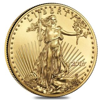 2016 1/4 Oz Gold American Eagle $10 Coin Bu Usa Gem photo