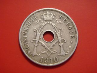 Belgium 25 Centimes,  1910 photo