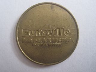 Vintage Funsville Fun Park & Arcade Martinez Georgia Token Coin 1120 - 5 photo
