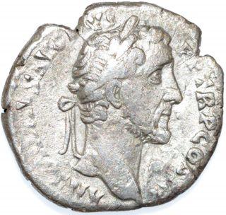 Authentic Emperor Antoninus Pius,  Ar Silver Denarius - Rv Winged Victory - C52 photo