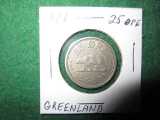 Greenland 25 Ore,  1926 photo
