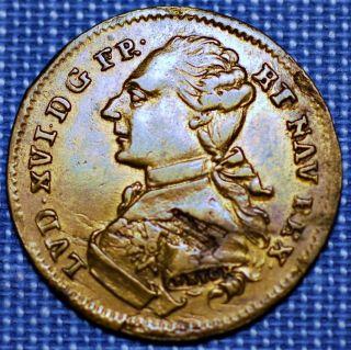 France Jeton.  Louis Xvi.  Omnibvs Non Sibi 1774 - 1793 photo