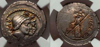 Ngc Xf.  Gold Iridescent Patina.  Discuri And Venus Very Rare Roman Coin. photo