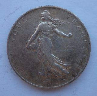 France 2 Francs 1915 Silver Coin photo