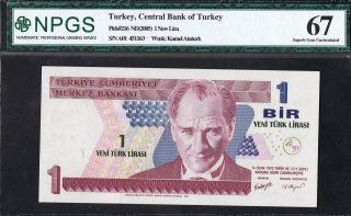 P 216   Uncirculated Banknotes 1 NEW  LIRA  2005 TURKEY