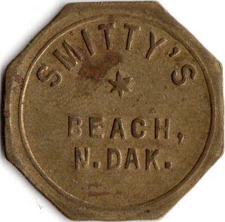 Beach North Dakota Smitty ' S Merchant Good For Trade Token photo