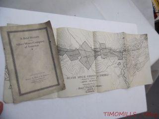 C.  1922 Silver Mines Company Of American Investment Prospectus Map Aspen Colorado photo