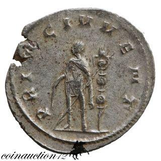 Roman Silver Antoninianus Valerian Ii 253 - 255 Ad Princi Ivventutis photo