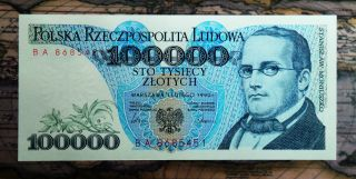 Poland 100 000 Zlotych 1990,  Uncirculated photo