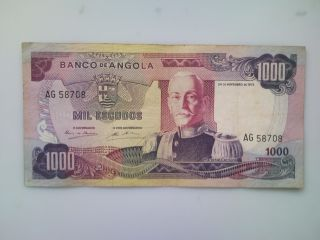 Angola Banknote 1000 Escudos1972 photo