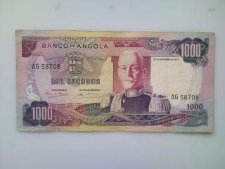 Angola Banknote 1000 Escudos1972 photo