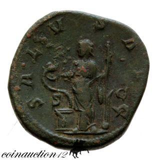 Roman Ae Sestertius Philip I Salus Avg S C 244 - 249 Ad photo