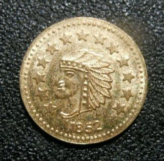 1852 California Gold 1/2 Fantasy Token photo