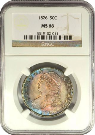 1826 50c Capped Bust Half Dollar Ngc Ms66 photo