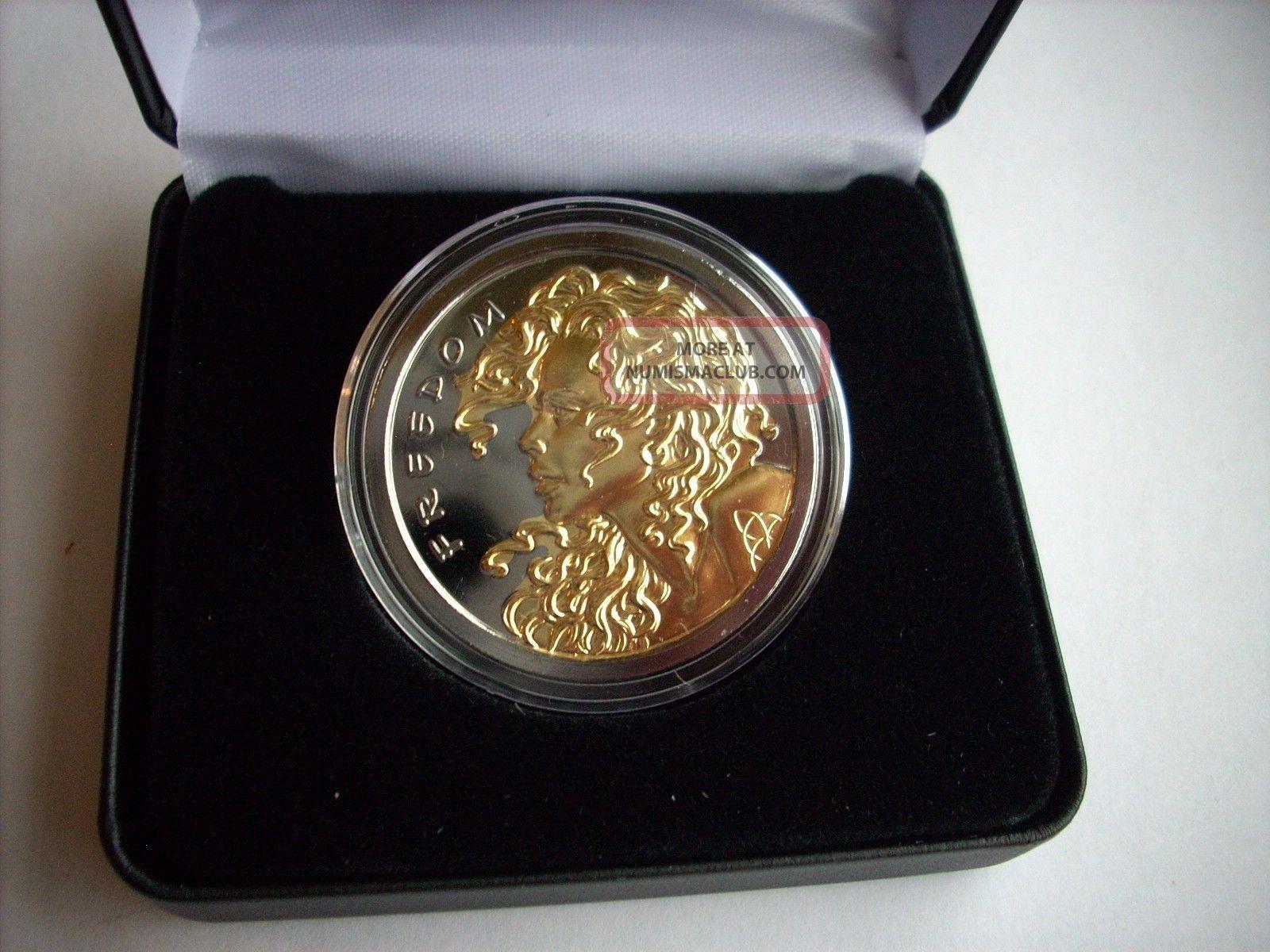 1 Oz Silver Coin Freedom Girl Black Ruthenium 24kt
