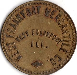West Frankfort Illinois Frankfort Mercantile Co Good For Trade Token photo
