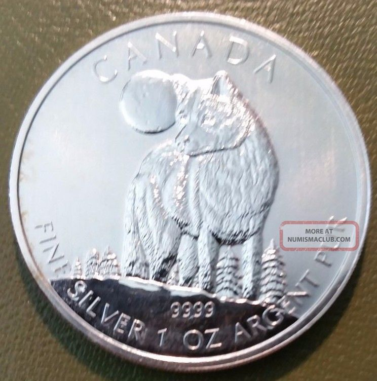 Canada Fine Silver 1 Oz 5 Dollars 2011 Quot Wolf