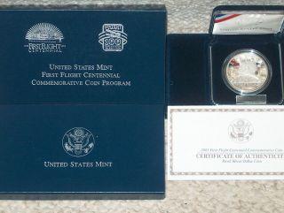 2003 - P U.  S.  First Flight Centennial Commemorative Proof Coin (2e3) photo