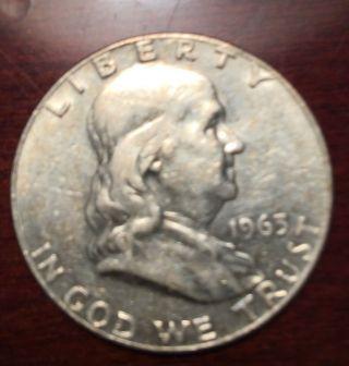 1963 D Franklin Half Dollar - Detail 1002 photo