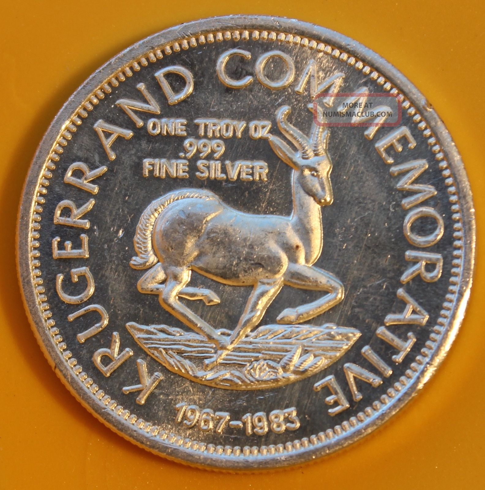 1983 Silver Stefans Johannes Kruger Commemorative 1 Troy