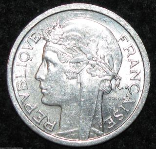 France Franc 1945 B Wwii Rare World Europe Coin (combine S&h) Bin - 55 photo